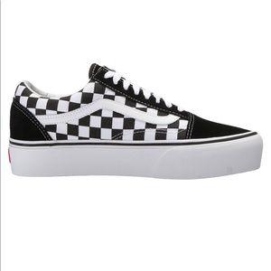 Checkered Platform Vans